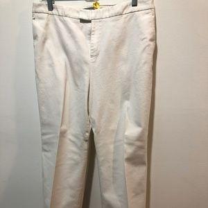 Ellen Tracy Cream Dress Pants